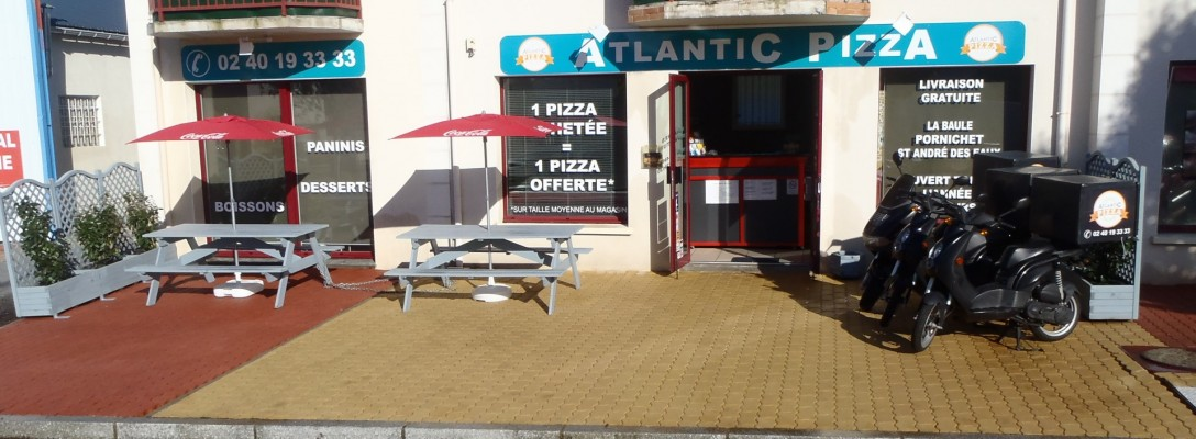 Façade Atlantic Pizza La Baule
